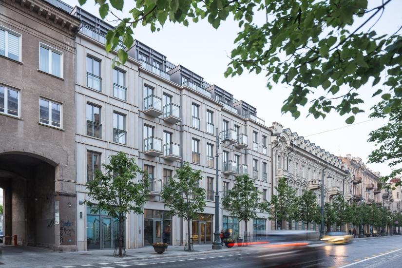 2018 Жилой дом на проспекте Гедиминаса в Вильнюсе