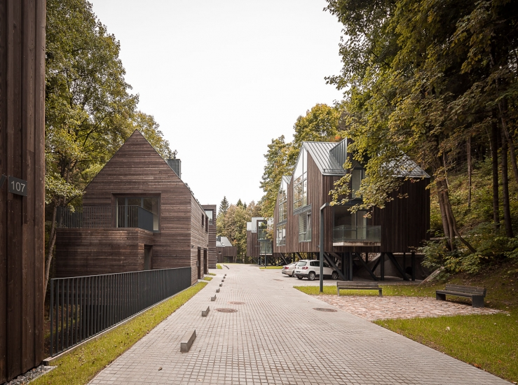 2015 Residential quarter in Pavilniai regional park in Vilnius